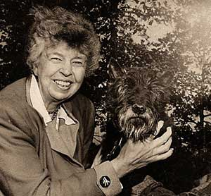 Eleanor Roosevelt with dog Fala, courtesy WikimediaCommons