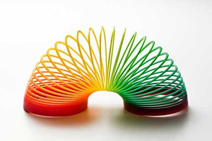 Welcome to Resilitator.com - rainbow slinky graphic