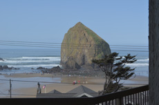 Haystack Rock view from house in Cannon Beach